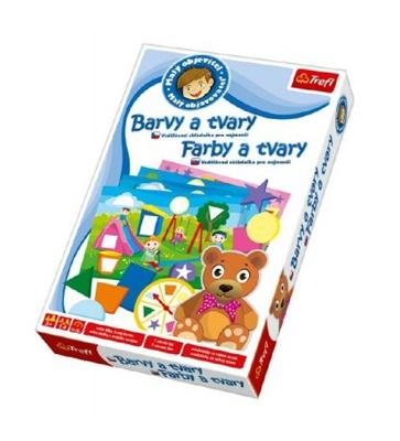 Hra vzdělávací TREFL MALÝ OBJEVITEL BARVY A TVARY dětská