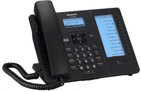 KX-HDV230NE-B Panasonic - SIP telefon, 4řádkový displej, 2 SIP účty, 24 progr. tlač., PoE, pro NS/HTS,černá