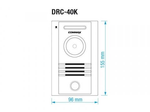 """CDV-43M/DRC-40K, sada 4.3"""" handsfree videotelefonu a kovové dveřní stanice, Commax"""