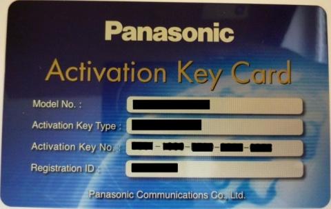 KX-NSM520W Panasonic - licence IP terminálu (NT5xx/HDVxxx) - pro 20 uživatelů, pro KX-NS500/700/1000
