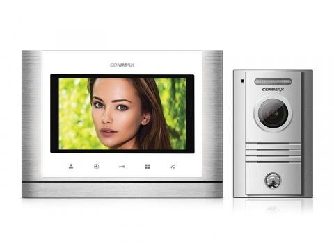 """CDV-70M bílý/DRC-40K, sada 7"""" handsfree videotelefonu a kovové dveřní stanice, Commax"""