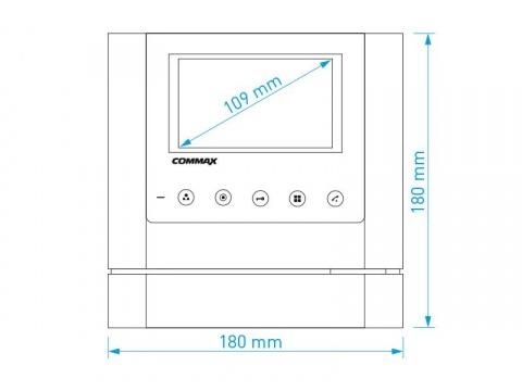 """CDV-43M bílý/DRC-40K, sada 4.3"""" handsfree videotelefonu a kovové dveřní stanice, Commax"""