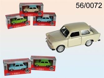 Welly - Trabant 601 1:34 s bílou střechou modrá