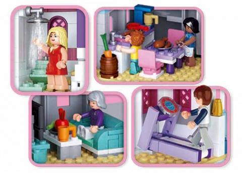 Sluban Girls Dream Holidays M38-B0610 Romantický zámek
