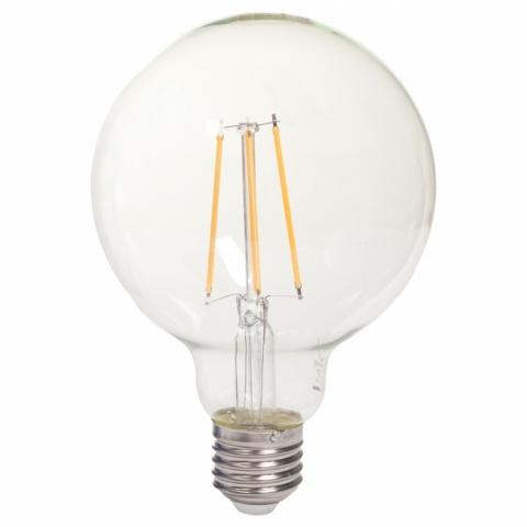 GL270827-3 Tesla - LED žárovka FILAMENT RETRO GLOBE, E27, 8W, 230V, 1055lm,15 000h, 2700K teplá bílá, 360°,čirá