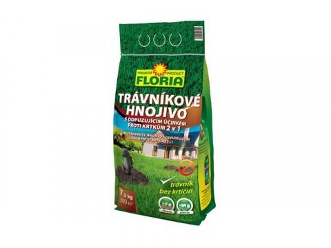 Hnojivo trávníkové FLORIA 7.5 kg KRTEK