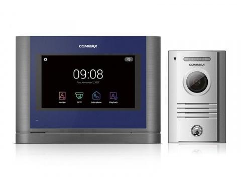 "CDV-704MA/DRC-40KHD, sada 7"" handsfree AHD videotelefonu a kovové dveřní stanice, Commax"