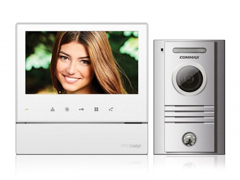 """CDV-70H bílý/DRC-40K, ekonomická sada 7"""" handsfree videotelefonu a dveřní stanice, Commax"""