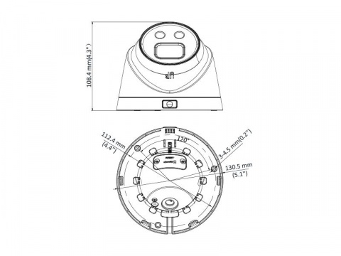 DS-2CD2346G1-I/4 - 4MPix AcuSense IP venkovní DOME kamera; WDR+ICR+IR+obj.4mm