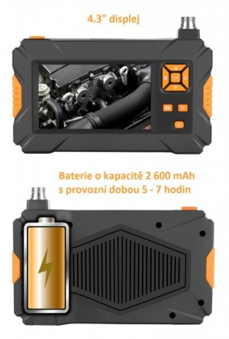 OXE ED-301 - Inspekční kamera se záznamem na SD kartu + brašna ZDARMA!