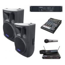 DEXON 2x BC 1200 + DAC 1300 + DMC 2220 + MD 505 ozvučovací sestava