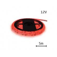 LED pásek 12V 3528  60LED/m IP20 max. 4.8W/m červená (1ks=cívka 5m)