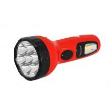 Svítilna ruční TIROSS TS-1169, 1+7 LED, 700 mAh nabíjecí červená