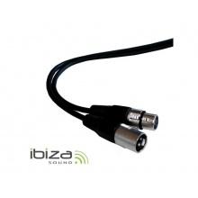 Kabel mikrofonní nebo DMX kabel XLR koncovka/XLR zásuvka 1,5m