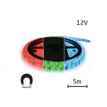 LED pásek 12V 5050  60LED/m IP20 max. 12W/m RGB, magnetický 5 m
