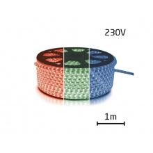 LED pásek 230V, 5050  60LED/m IP67 max. 14.4W/m RGB, cena za 1m, zalitý