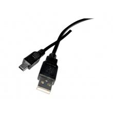 Kabel TIPA USB 2.0 A/Mini USB 1,8m černý