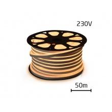 LED neon flexi hadice 230V 120LED/m 12W/m bílá teplá (50m)