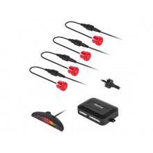 Parkovací senzory s displejem (zadní) Peiying - červená