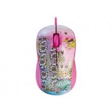 Myš drátová YENKEE YMS 1020PK FANTASY růžová