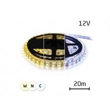LED pásek 12V 3527  60LED/m IP20 max. 4,8W/m variabilní (W+N+C), (1ks=cívka 20m)