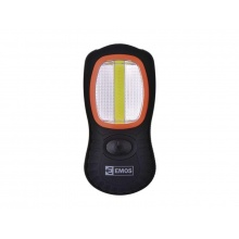 LED svítilna, ABS materiál, 3W COB LED + 3× LED, na 3x AAA