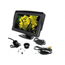 Parkovací systém bezdrátový set STU CW2 kamera s 4,3 displejem