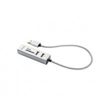 Redukce USB hub YENKEE YHC 101SR + čtečka