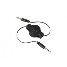 Kabel TIPA JACK 3.5 konektor/JACK 3.5 konektor 0,8m navíjecí