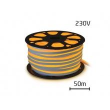 LED neon flexi hadice 230V 120LED/m 12W/m žlutá (50m)