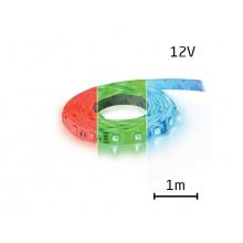 LED pásek 12V 5050  60LED/m IP20 max. 12W/m RGB (1ks=1m)