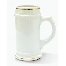 Pivní půllitr - zlatá linka