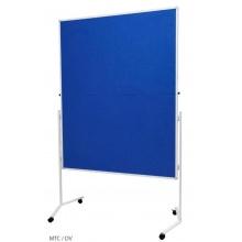 Moderační textilní tabule modrá 120x150cm - skládací