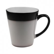 Hrnek latté černý měnící 0,3l v. 9,8 cm kónický