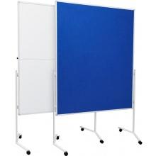Moderační oboustranná tabule korková 120x150cm na kolečkách