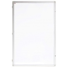 Vertikální vitrína Eco - lakovaná výplň - 90 x 120 cm