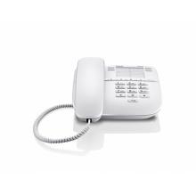 GIGASET-DA310-WHITE Gigaset - standardní telefon bez displeje, 4 přímé klávesy, možno na zeď, barva bílá