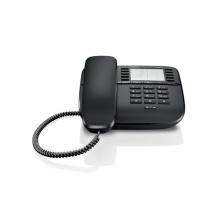 GIGASET-DA510-BLACK Gigaset - standardní telefon bez displeje, 20 přímých kláves, vysoká kvalita zvuku, barva černá