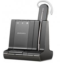 SAVI-W740/A-M Plantronics - bezdrátová náhlavní souprava pro stolní telefon, mobil a PC - za ucho (Microsoft)