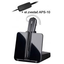 CS-540/A+APS-11 Plantronics - bezdrátová náhlavní souprava + el.zvedač APS-11 pro telefony SIEMENS