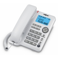 A80-BILA Concorde - standardní telefon s LCD/CLIP, bílá