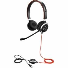 EVOLVE-40-DUO-MS Jabra - náhlavní souprava pro PC a mobil, USB+3,5 mm jack, spona přes hlavu, na obě uši