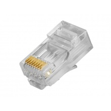 RX-RJ45D, konektor RJ45 pro datový kabel UTP,osazen 8 kontakty,CAT.6