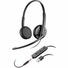 BLACKWIRE-C325.1 Plantronics - náhlavní souprava pro PC/mobil na obě uši, přes hlavu, tl. přijmu, USB+3,5 mm jack