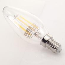 CL140427-1 Tesla - LED žárovka CRYSTAL RETRO svíčka E14, 4W, 230V, 470lm, 15 000h, 2700K teplá bílá, 360°čirá