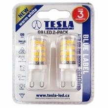 G9000330-5PACK Tesla - LED žárovka, G9, 3W, 230V, 300lm, 15 000h, 3000K teplá bílá, 360° 2ks v balení