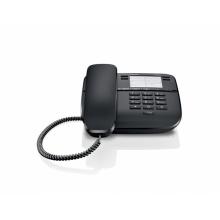 GIGASET-DA310-BLACK Gigaset - standardní telefon bez displeje, 4 přímé klávesy, možno na zeď, barva černá