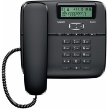 GIGASET-DA610-BLACK Gigaset - standardní telefon s displejem, CLIP, 10 kláves rychlé volby, handsfree, barva černá