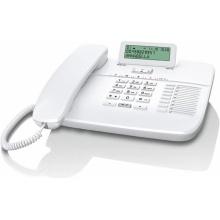 GIGASET-DA710-WHITE Gigaset - standardní telefon s displejem, CLIP, konektor pro náhlavní soupravu RJ9, handsfree, bílá