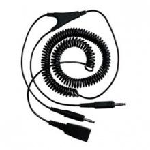 GN-8734-599 Jabra - kabel kroucený, konektoryQD/2x3,5 jack, pro připojení do zvukové karty PC, 2 m